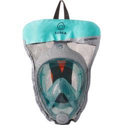 Máscara de snorkel en superficie Easybreath turquesa