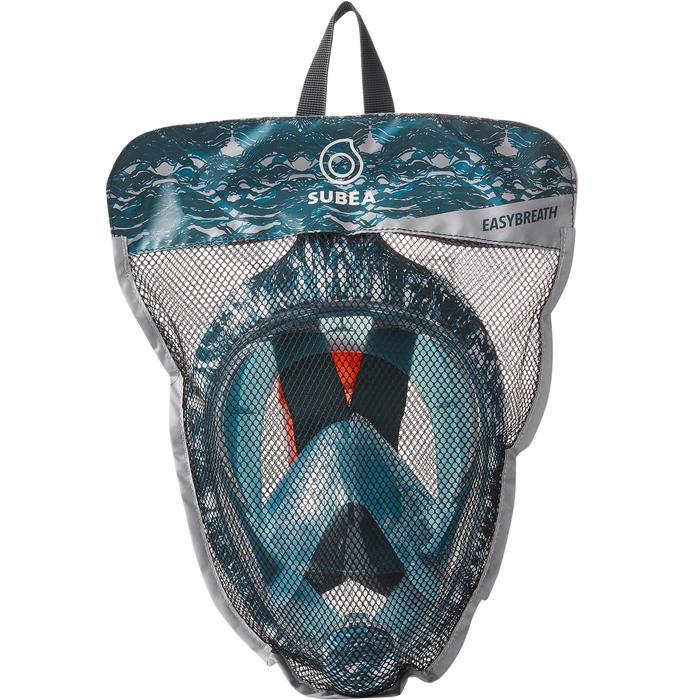 Máscara Snorkel Subea Easybreath Adulto Azul Verde
