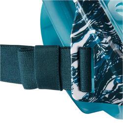 Masque de snorkeling en surface Easybreath printé Oyster turquoise