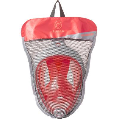 Masque de snorkeling en surface Easybreath corail