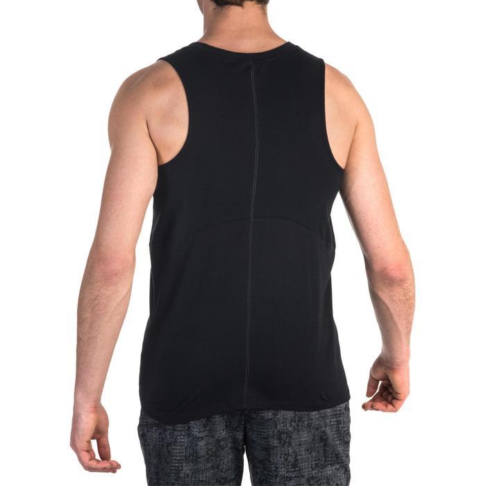 Débardeur 900 slim Gym Stretching & Pilates homme noir - 1331984