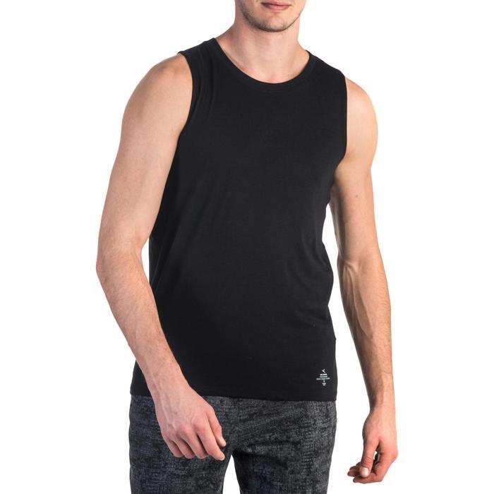 Débardeur 900 slim Gym Stretching & Pilates homme noir - 1331985