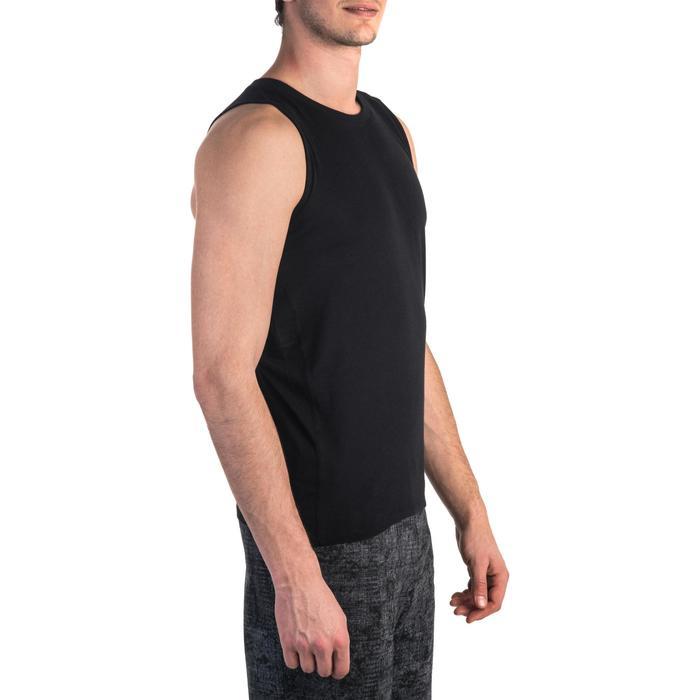 Débardeur 900 slim Gym Stretching & Pilates homme noir - 1331987