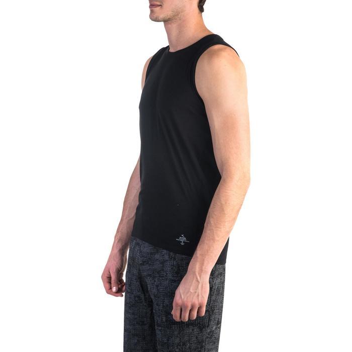Débardeur 900 slim Gym Stretching & Pilates homme noir - 1331988