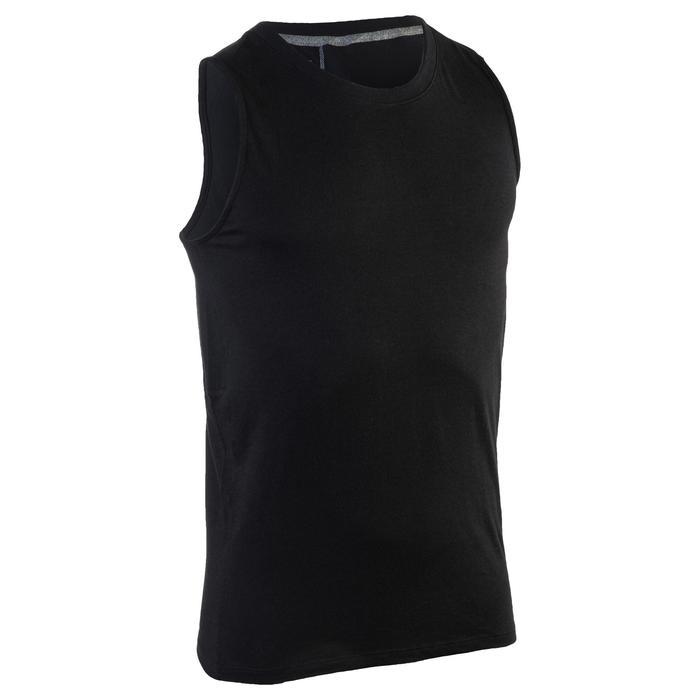 Débardeur 900 slim Gym Stretching & Pilates homme noir - 1331989
