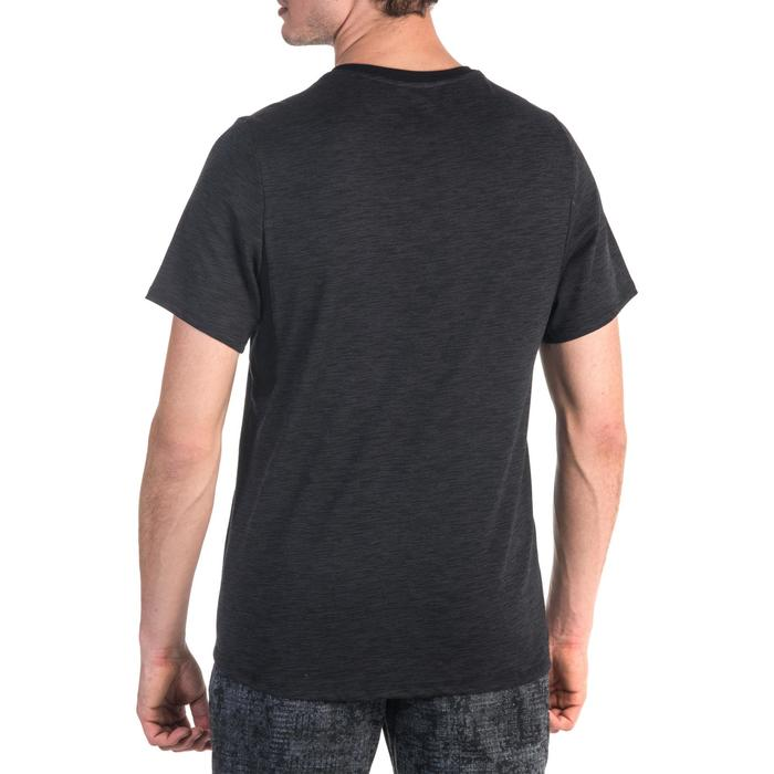 T-Shirt 520 regular col V Gym & Pilates noir printé homme