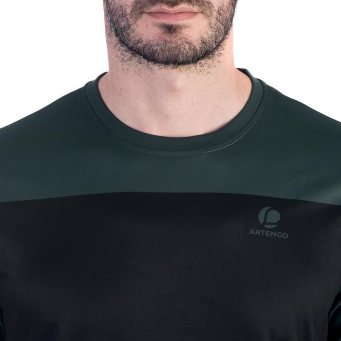 T-shirt heren Soft 100 kaki