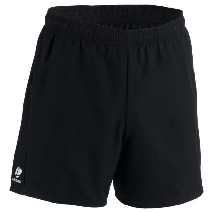 Tennisshort heren Dry 100 zwart