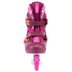 patins à roues alignées pour enfant JEU 5 tonique rose