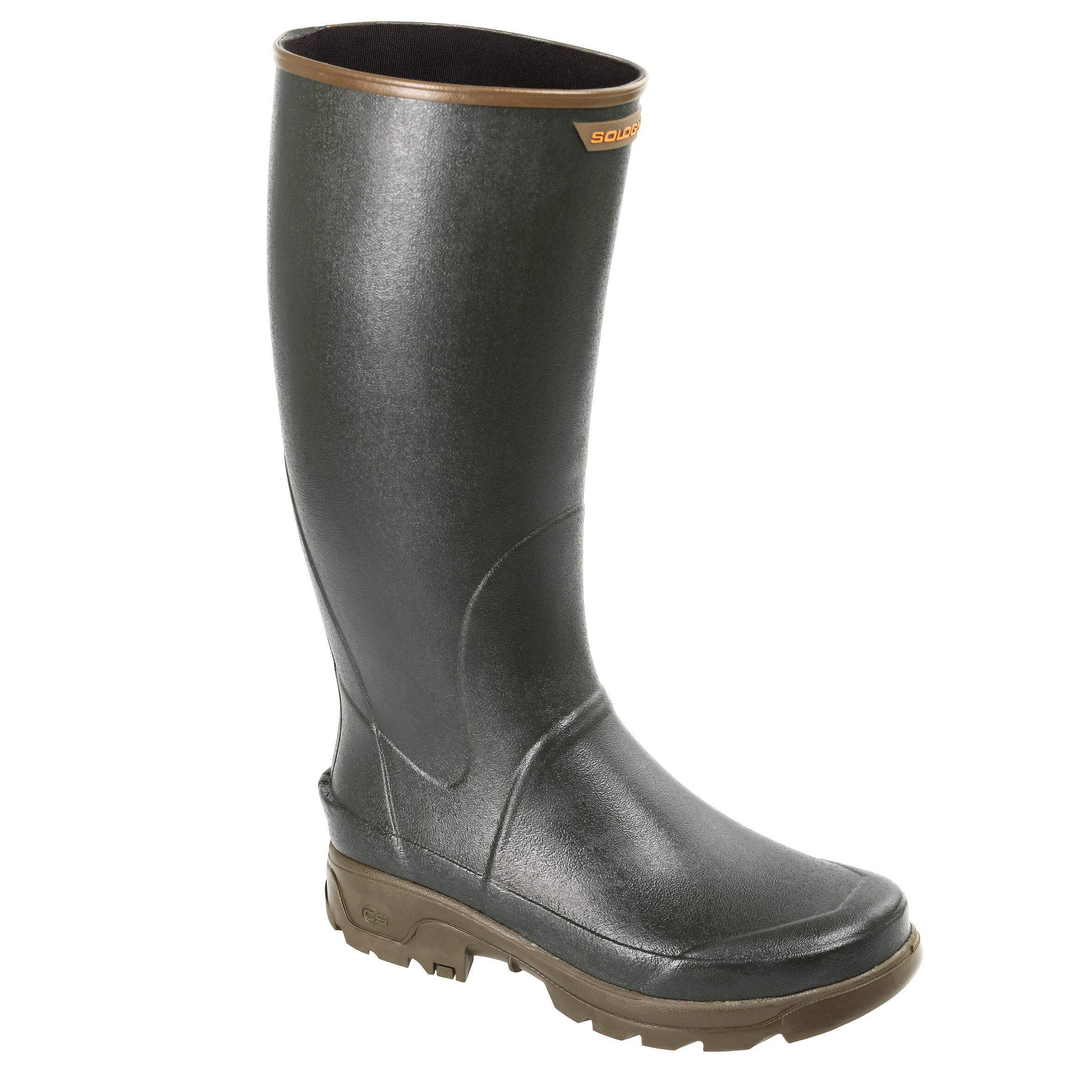 JAGDSTIEFEL RENFORT 500 GRÜN | Schuhe > Boots > Stiefel | Solognac