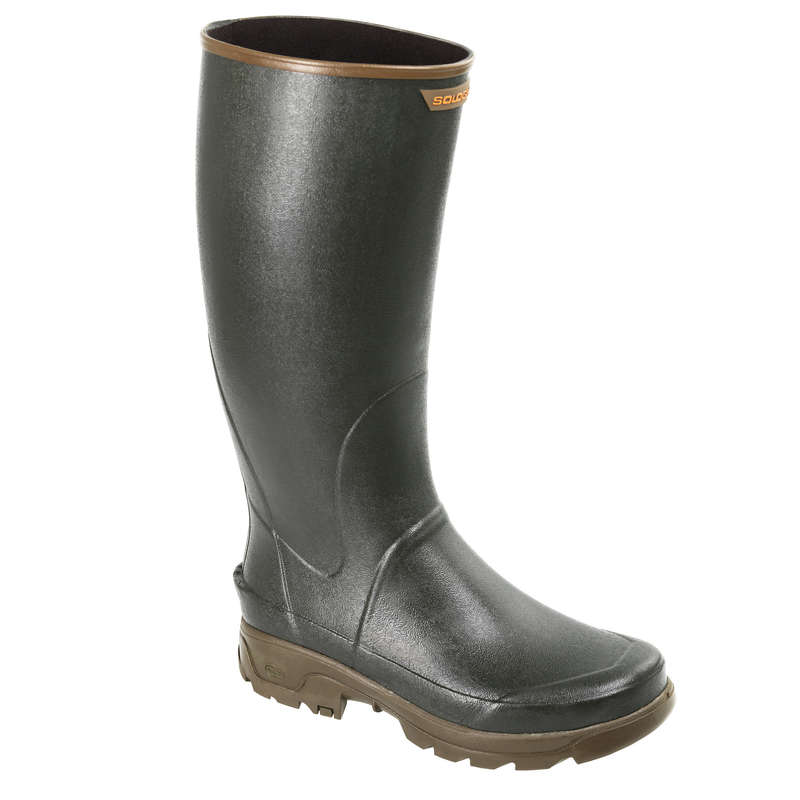 WELLIES Shooting and Hunting - Reinforced Wellies 500 - Green SOLOGNAC - Shooting and Hunting