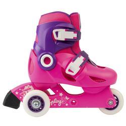 Skeelers voor kinderen Play 3 roze paars