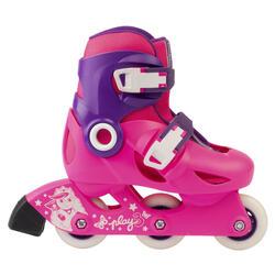 Play 3 兒童滾軸溜冰鞋 (可調整3種尺寸) - 粉紅/紫色