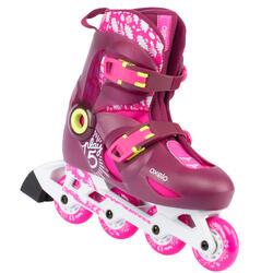 兒童溜冰鞋Play 5 Tonic - 粉色