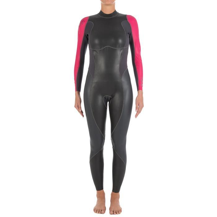 Traje de natación neopreno natación en aguas abiertas OWS100 1 0 mm mujer 4070ca4157c