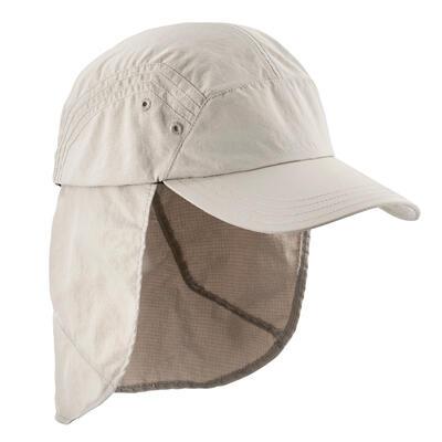 Cachucha de trekking en montaña TREK 900 anti-UV beige