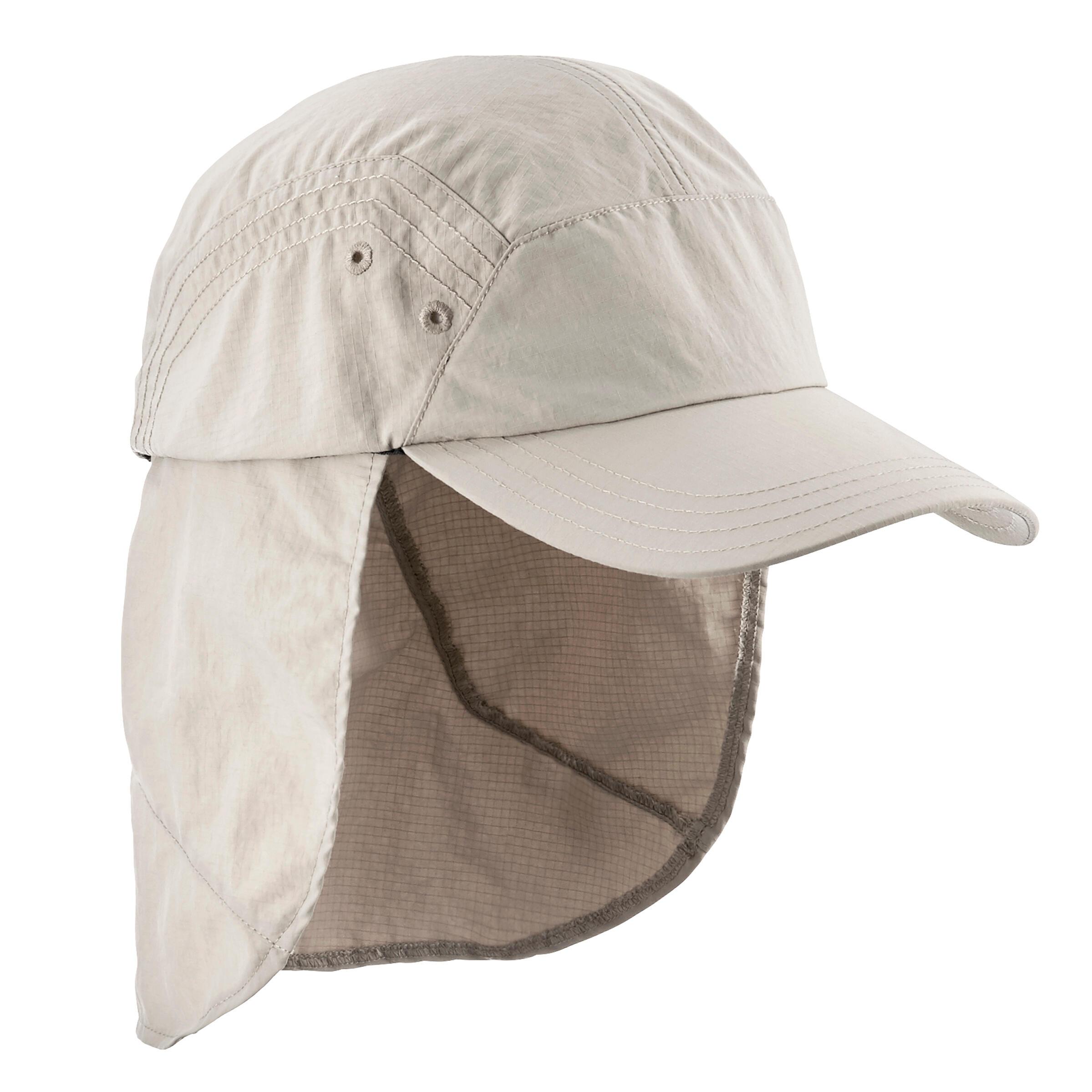 Casquette randonnée désert 500 anti-UV homme beige