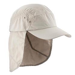 健行登山遮陽帽 TREK 900 米色