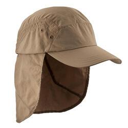 Gorra de trekking en montaña TREK 900 anti-UV marrón