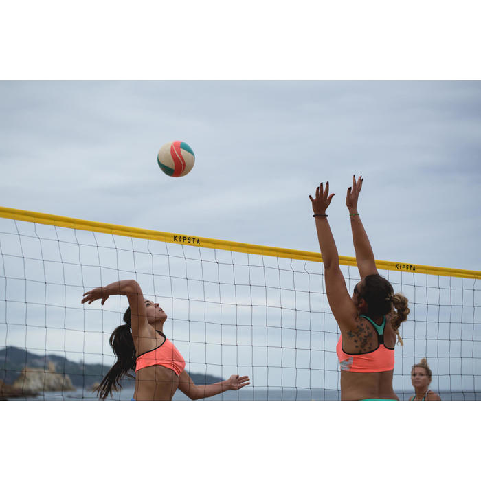 Ballon de beach-volley BV900 FIVB blanc vert et rouge - 1332333
