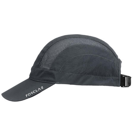Ventilated mountain trekking cap - TREK 500 - Dark grey