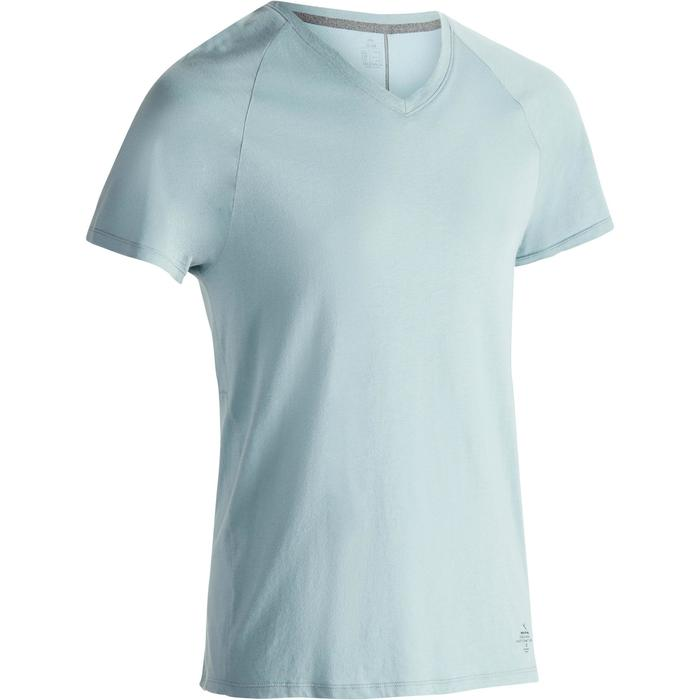 T-shirt 900 col V slim Gym Stretching & Pilates homme - 1332384