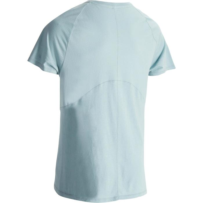 T-shirt 900 slim Gym & Pilates homme bleu gris
