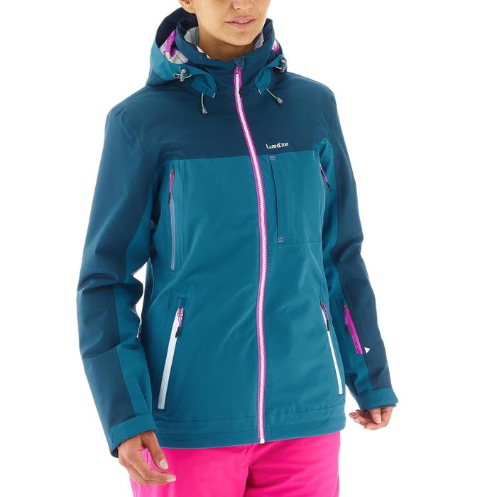 Ski- en snowboardjas voor dames Free 500 blauw