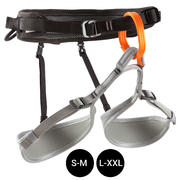 CLIMBING AND MOUNTAINEERING HARNESS BLACK GREY