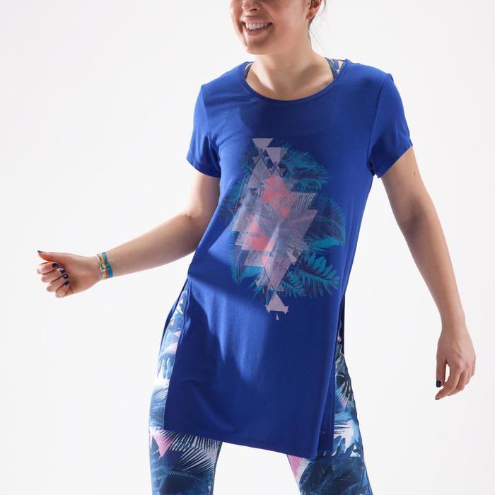 Tunique de danse, longue et ample, femme bleue