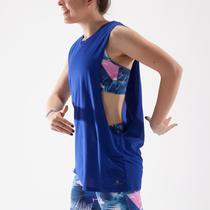 Dámské taneční tričko bez rukávů modré  c55bc5f0b9