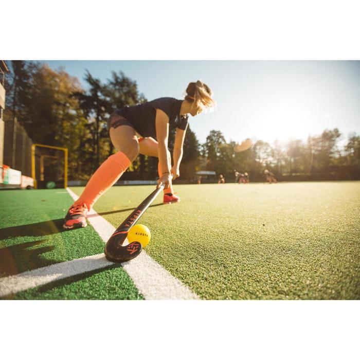 Medias de hockey sobre hierba júnior y adulto FH500 rosa