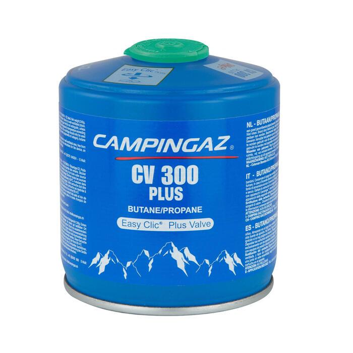 Gaskartusche CV300+ mit Ventil für Gaskocher (240 Gramm)