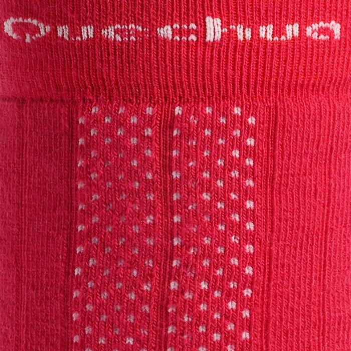 Chaussettes de randonnée neige enfant SH500 active chaudes Rose et Gris