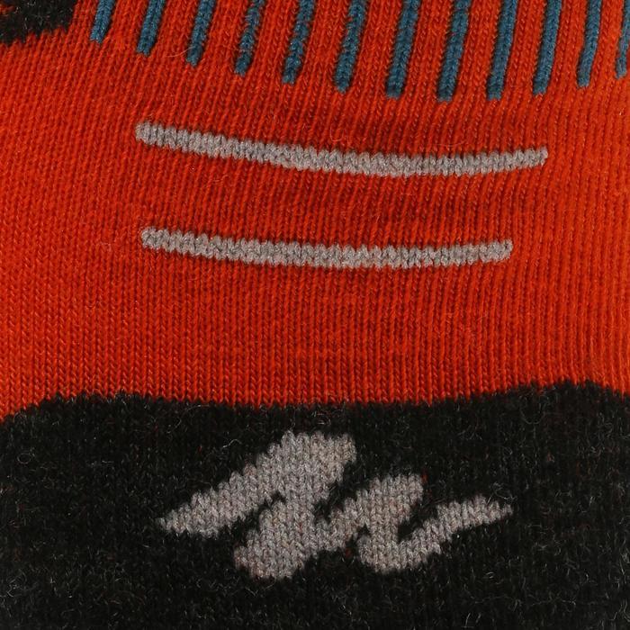 Sokken voor wandelen in de sneeuw kinderen SH500 Active Warm rood/zwart