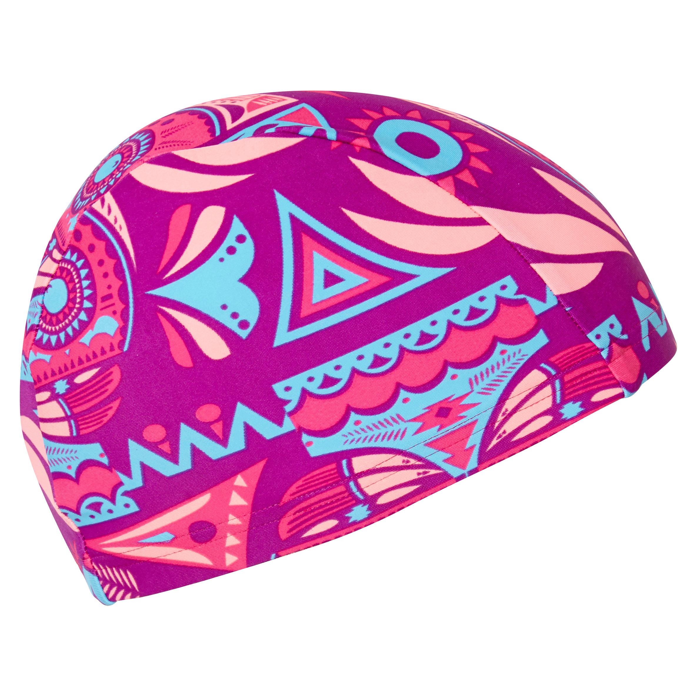 MESH PRINT SWIM CAP...