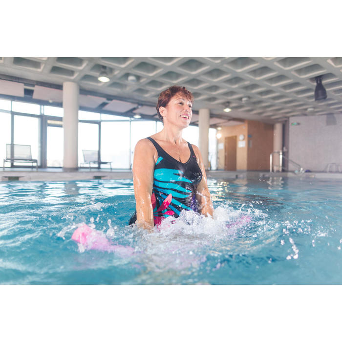 Badeanzug Aquagym figurformend Karli Tropi Damen schwarz
