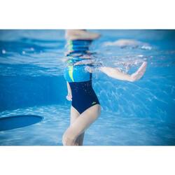 Badpak Karol voor aquagym blauw/geel
