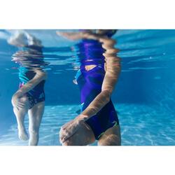 Bañador de aquagym moldeador 1 pieza mujer Karli Fic amarillo