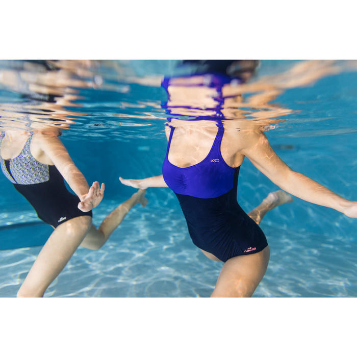 Badeanzug Aquagym figurformend Mary Damen blau