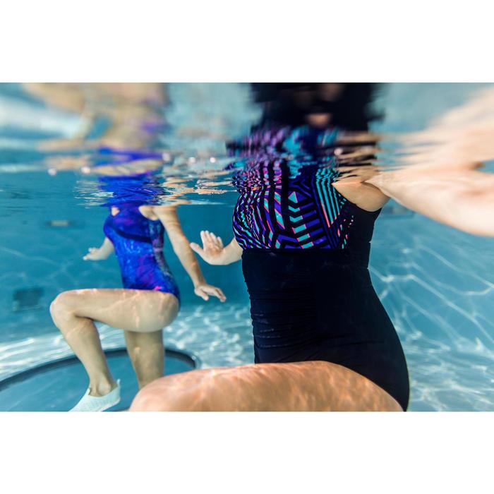 Maillot de bain d'aquagym gainant femme une pièce Mary Bleu Fici