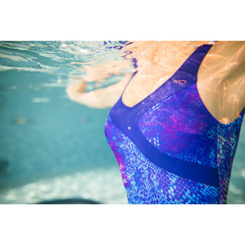 Badeanzug Aquagym Karli Snake Damen blau