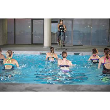 Bañador de una pieza de aquafitness Meg ultrarresistente al cloro Stri azul