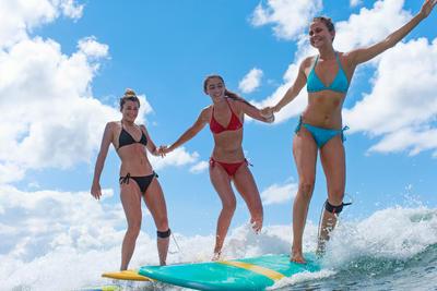 Parte inferior de bikini anudada a los lados surf mujer SOFY ROJO