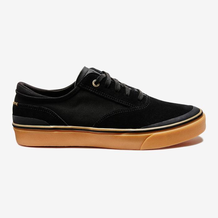 Chaussures basses de skateboard adultes VULCA 500 noire - 1333003