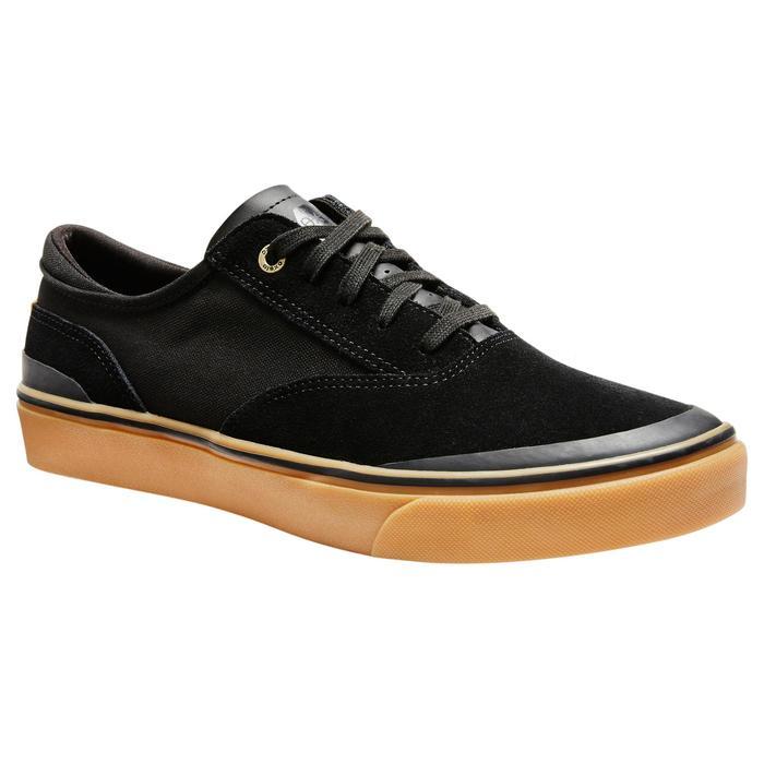Skateschuh Vulca 500 Low Erwachsene Gummisohle schwarz