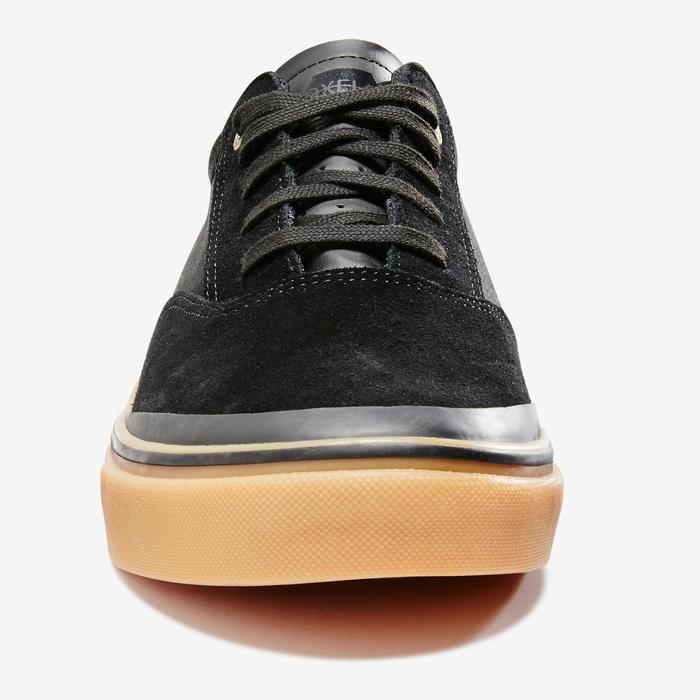 Zapatillas bajas de skateboard adulto VULCA 500 negro / goma