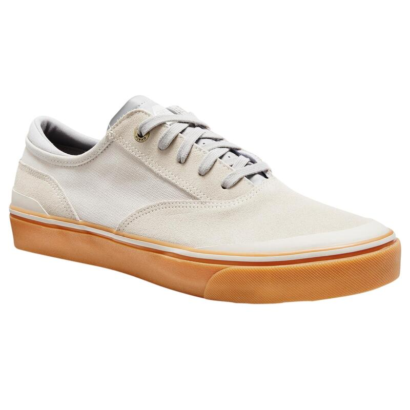 Vulca 500 Adult Low-Top Skate Shoes - Cream/Rubber