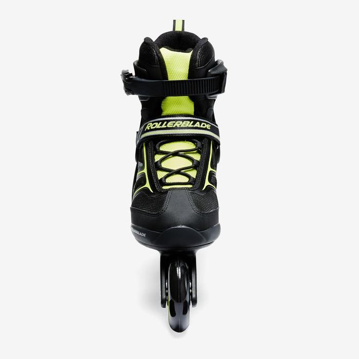 Roller fitness homme BRAVO noir jaune - 1333111