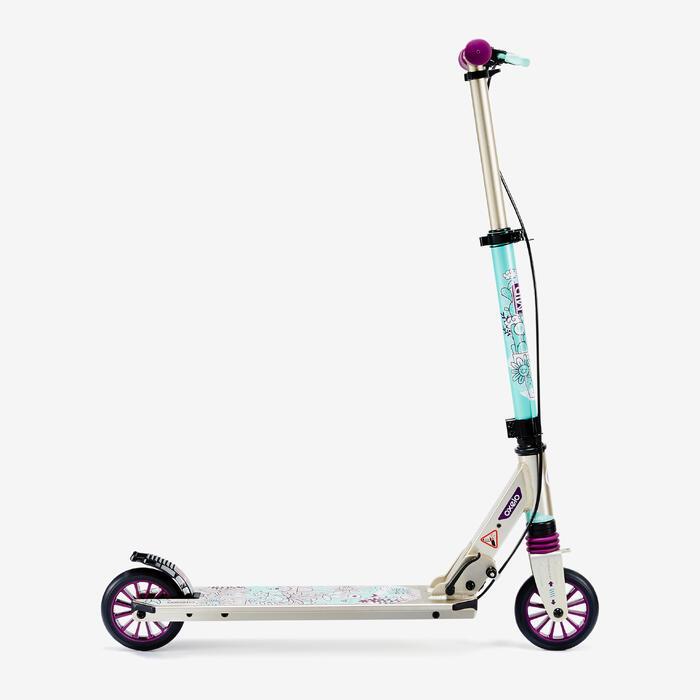 Fun-Scooter Mid5 mit Federung und Lenkerbremse Kinder Kaktus